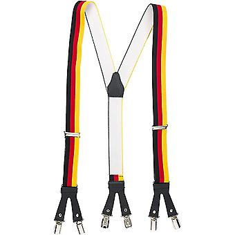 Germany high quality 6 clips clips suspenders with leather straps