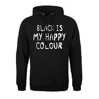 Grindstore Mens Black é meu capuz de cor feliz