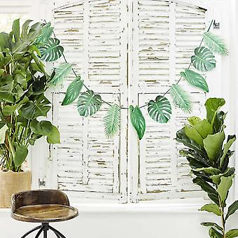 Tropical Fiesta Palm Garland Party Decorations, Paper, Green 1.5m