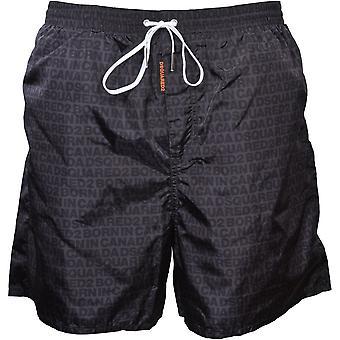 DSquared2 Wet-Reveal Logo Shorts de bain, Gris foncé