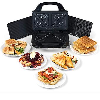 Salter EK2143 Deep Fill 3-in-1 Snack Maker with Interchangeable Waffle