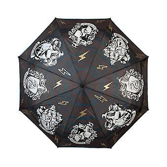 Harry Potter Crest Nestemäinen Reaktiivinen Kompakti Sateenvarjo