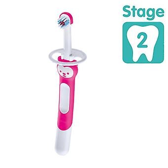 Mam training brush with safety shield pink
