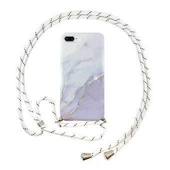FONU Marmor Backcase Fall mit Schnur iPhone 8 Plus / 7 Plus - Orange Gold