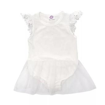 Baby Mädchen Weiß Engel Partykleid