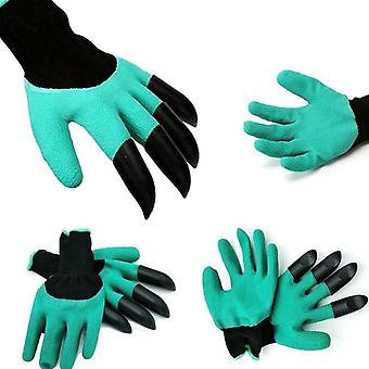 Garden Gloves With Fingertips Claws Quick Easy To Plant Saf For Rose Pruning