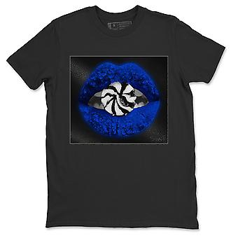 Lips Candy Jordan 1 Royal Black Toe Sneakers T-shirts - AJ1 Tee
