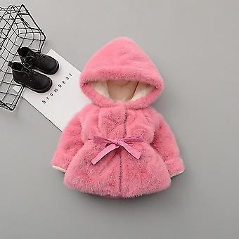 Baby Clothes Winter Thicken Giacca calda Visonk Fleece Jacket Princess Wool