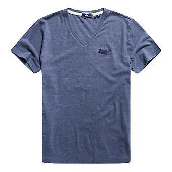 Superdry Organic Cotton Classic V-Neck T-Shirt - Navy Marl