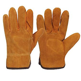 Gardening Welding, Apron Sleeves Gloves, Protection Leather Work Safety