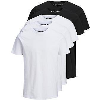 Jack & Jones Mens Jjeorganic O-Neck 5 Pack Katoen T Shirt