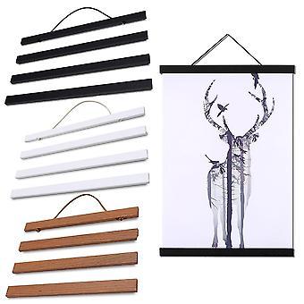 Magneettinen julistekehys, puinen seinä valokuva kuva taideteos julistepidike