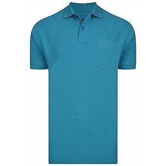 KAM Kam Mens Big Size Plain Polo Shirt With Chest Pocket