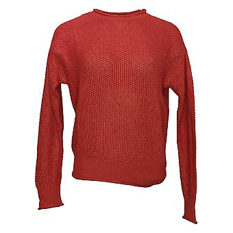 Jessica Simpson Women's Crew Neck Knit Top Scooter Red