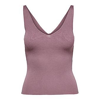 JDY mujeres tank top camisa básica estructura sin mangas suéter top V-Neck JDYNANNA