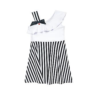 Alouette Girls' Dress With Strolls And Straps On One Shoulder