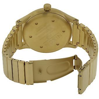 Nixon guld-ton rostfritt Steeel Mens Watch A1160502