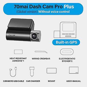 Smart Dash Cam Pro, Control de voz inglés, Cámara dvr de coche, Gps Adas, Estacionamiento