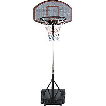 Koripallotanko pystyssä 140-220 cm - Säädettävä - Koripallorengas