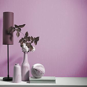 Elle Decoration Plain Textured Wallpaper Purple Pink 1017116