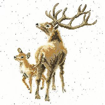 Wild at Heart (XHD72) Cross Stitch Kit by Wrendale Designs