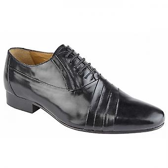 Kensington Marco Mens Smooth Leather Oxford Shoes Black