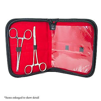 Dermal piercing tool kit - 2 dermal forceps with a high-quality pouch included