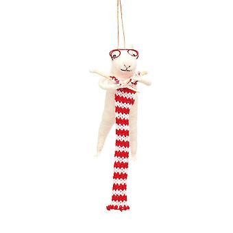 Sass & Belle Knitting Mouse Christmas Dec
