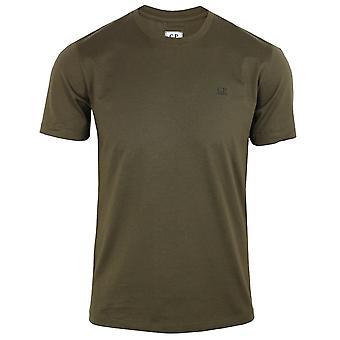 C.p. company men's khaki jersey 30/1 small logo t-shirt