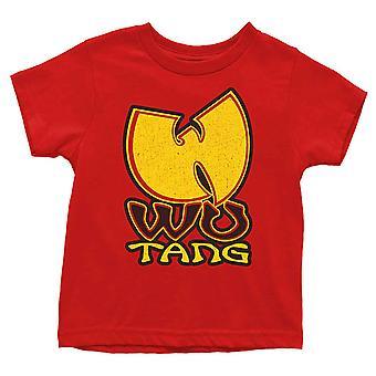 Wu Tang Clan Taapero T-paita Wu-Tang Logo uusi virallinen punainen 12 kuukautta - 5 vuotta