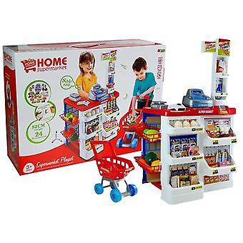 Playset σούπερ μάρκετ με ταμειακή μηχανή & καλάθι αγορών 24 τεμάχια
