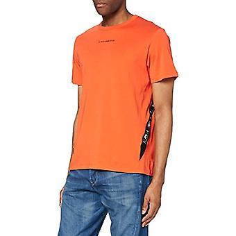G-STAR RAW Sport En tejp T-shirt, Acid Orange 336-b214, M Herrar