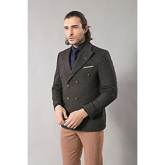 Men's blazer double breasted in smoked   wessi