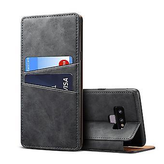 حقيبة جلدية مع فتحة بطاقة المحفظة ل iPhoneX/XS5.8 رمادي داكن