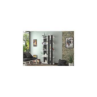 Lille sort, hvid, Truciolare Melamin Bibliotek L75xP22xA150 cm