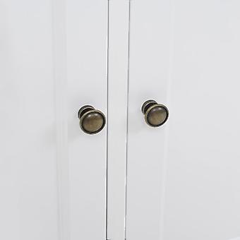 vidaXL Dressoir met 3 deuren MDF en grenen hout 105 x 35 x 77,5 cm