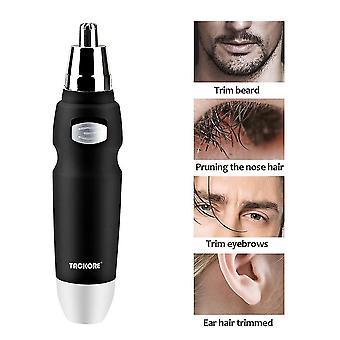 Musta sähkökäyttöinen parranajo nenäkarvan trimmeri miehille, jotka ajelevat hiuksia poisto partaparran puhdistuskone cai1552