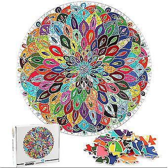 Värikäs mandala palapeli ainutlaatuinen muoto palapeli palaset aikuiset lasten lelu lahja az8994