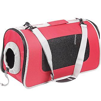 S 42*25*25cm red portable pet cat travel backpack£¬shoulder bags az18156