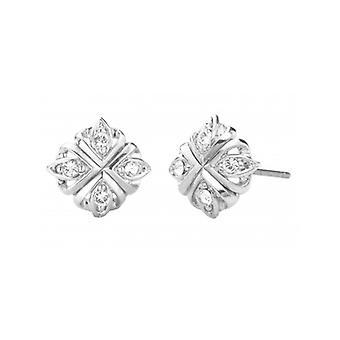Traveller Stud Earrings Crystals From Swarovski Rhodium-plated – 157363 - 981