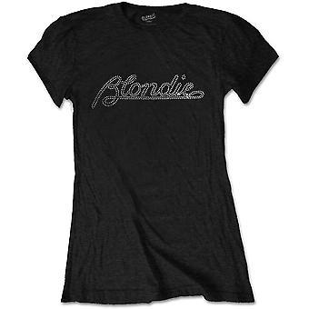 Blondie - Logo Women's Large T-Shirt - Black