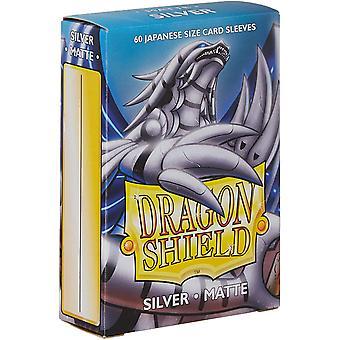 Dragon Shield Matné stříbrné japonské velikosti karetní rukávy - 60 rukávů