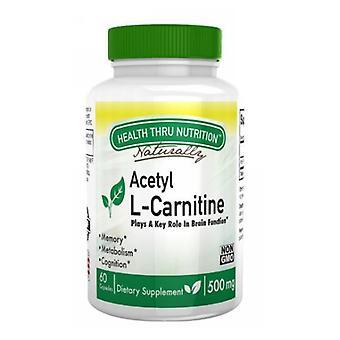 Health Thru Nutrition Acetyl L-Carnitine, 500 mg, 60 Veg Caps