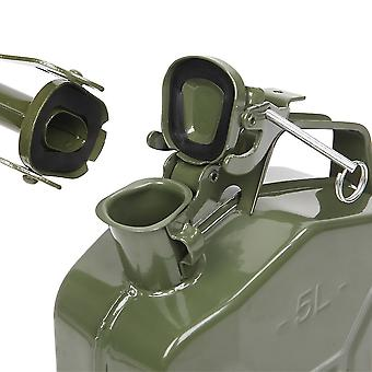 5l 0.6mm Metal Bucket Outdoor Gasoline Storage Barrel For Automobile Liquid Oil With Tube (army Green)