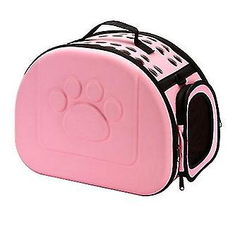 S 36 *23 * 20cm pink udendørs bærbare foldbare kæledyr kat taske az13015