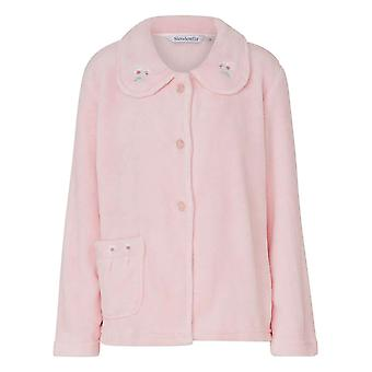 Slenderella BJ8305 Women's Pink Robe Long Sleeve Dressing Gown