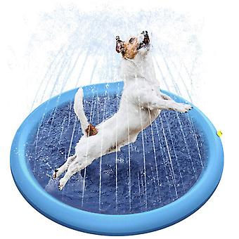 Pet Sprinkler Mat,play Cooling Pad,swimming Pool Inflatable Water Spray Tub Summer Cool Dog Bathtub