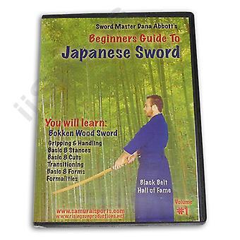 Guía para principiantes Espada japonesa #1 Bokken Wood Dvd Dana Abbott -Vd6796A