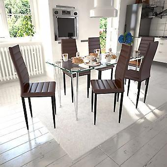 vidaXL تناول الطعام الكراسي 6 أجهزة الكمبيوتر الشخصية.