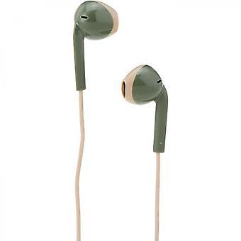 Hörlurar, mikrofon och fjärrkontroll, svettsäker Jvc Ha-f19m-gc-e Grön Khaki Creme